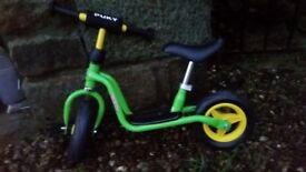 PUKY green balance bike - never used