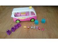 Shopkins ice cream van and 7 shopkins,