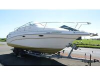 Glastron GS249 sports cruiser complete with twin axle road trailer