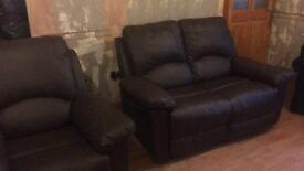 2 seater settee and recliner chair