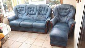 Genuine Leather 4 Piece Suite