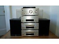 Denon UPA-F88 mini Hi-Fi seperates system Amp CD tuner tape + wharfedale speakers