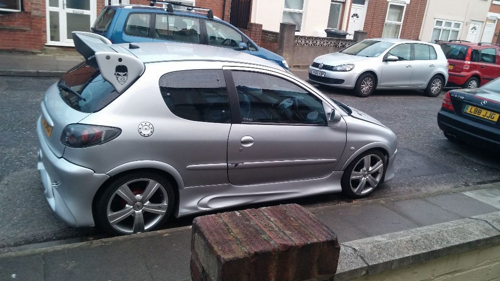 peugeot 206 1 4 modified in ipswich suffolk gumtree. Black Bedroom Furniture Sets. Home Design Ideas