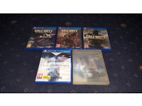 5 X Playstation 4 Games PS4 Games Cal Of Duty Infinite Warfare (New & Sealed)