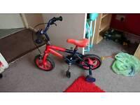 Childrens spiderman bike
