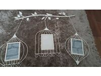 Shabby Chic Birdcage wall hanging/photo frame