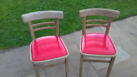 2 x genuine 1960's kitchen chairs