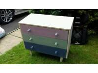 Three drawer chest of drawers