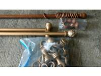 Curtain rails and rings