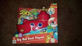 Brand New Twirlywoos Big Red Boat Play Set