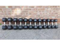 HEX DUMBBELL WEIGHTS SET - 5KG, 8KG, 10KG, 15KG, 16KG, 20KG, 22KG - individually priced