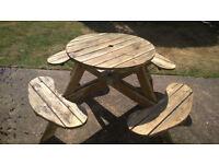 Round Garden Bench - seats 8