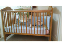 Cot Bed Toddler Bed plus Mattress