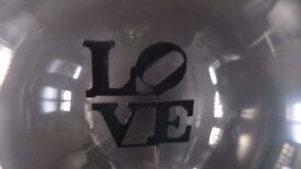 Love message light bulb with artist Robert Indiana sculpture font - NEW