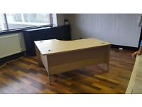 Large Wooden Corner Office Desk with Drawer Unit
