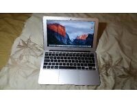 "Apple MacBook Air 11"" Core i5 1.4 GHz 4GB 128GB SSD Flash HD, os x el capitan 10.11,office,Mid-2014"