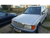 Mercedes 190E 1.8 Petrol 4 Dr Saloon Silver, Facelift Model, Mint Interior Classic