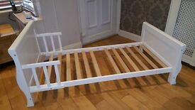 Toddler Childrens Wooden Bed White