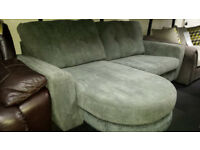 EX-DISPLAY GREY FABRIC LEFT/RIGHT CORNER SOFA