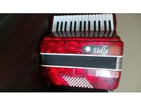 Stella 48 bass piano accordian.Ideal for beginner. Can deliver in local area. £40.00
