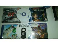Sega Dreamcast & 4 Games, controls, rumble pack, memory