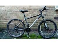 Adults unisex Carrera vengeance 24 speed 18 inch frame 26 inch wheels mountain bike