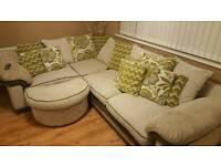 Corner sofa & cuddle chair.
