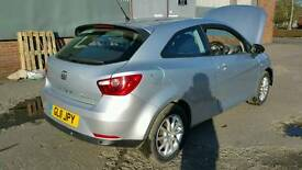2011 seat ibiza 1.2 ecomotive light damage free tax moted