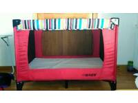 Obaby Travel Cot/Play Pen with Basinet and fitted mattress.
