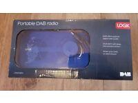 Logik portable DAB radio alarm clock