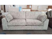 Ex display Portland/Mason 3 Seater Fabric sofa **CAN DELIVER**