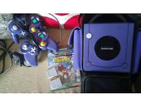 Purple gamecube with extras immaculate