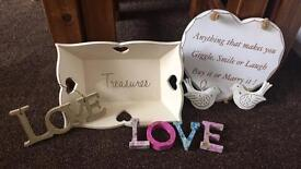 Shabby Chic Items excellent condition not free prices in listing