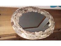 Gorgeous handmade driftwood mirror.
