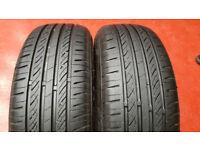 185 65 15 2 x tyres Infinity Ecosis