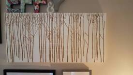 Habitat wood carving wall hanging