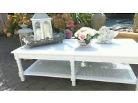 French style Bergere coffee table shabby chic