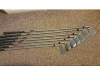 TaylorMade RBZ Tour irons with KBS Tour stiff shafts 4 to AW