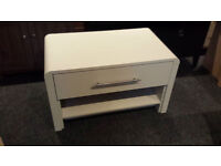 GREY WOODEN 1 DRAWER COFFEE TABLE/TV STAND