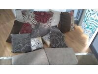 Sofa - Brown and Cream Leather