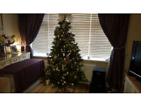 6ft Victorian pine pre lit Christmas tree
