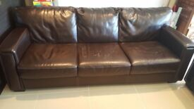Three seater sofa in brown for FREE