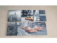 Set of New York Canvas'