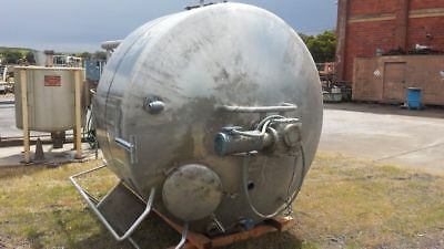 1000 Gallon Stainless Steel Dci Jacketed And Scrape-agitated Tank