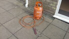 Gas Bottle And Blow Torch