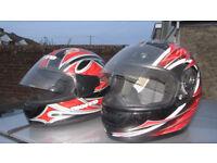 Full Face Helmets Medium and Large