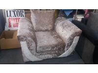 Zion Mink Crushed Velvet Chair