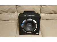 CAR ACTIVE SUBWOOFER VIBE SLICK 1050 WATT 10 INCH PORTED BASS BOX WITH MONOBLOCK AMPLIFIER