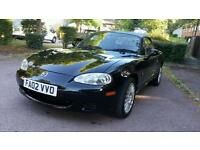 MAZDA MX-5 1.8 BLACK CONVERTIBLE ** LEATHER SEATS ** FSH ** LONG MOT **