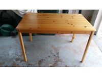 Mid Pine Kitchen Table. No Chairs.